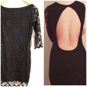 Ali & Kris Sexy LBD Lace Backless Dress Sz M